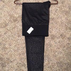 Soooo soft and comfy. Black embossed leggings. NWT